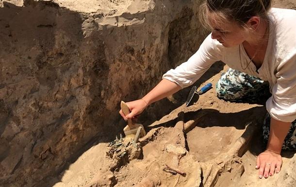 У Запорізькій області розкопали поховання скіфського воїна