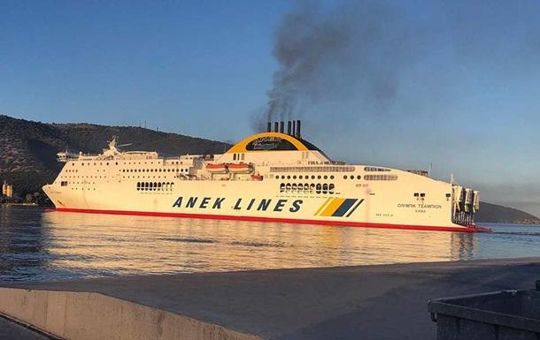 На поромі в Греції сталася пожежа: евакуювали півтисячі пасажирів