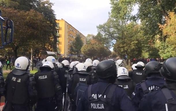 В Польше на Марше равенства полиция применила водомет и газ