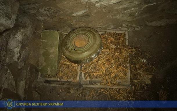 СБУ обнаружила два схрона с оружием сепаратистов