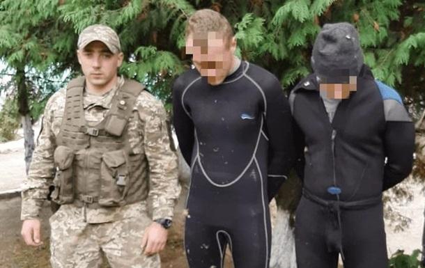 На Закарпатье задержали водолазов-контрабандистов