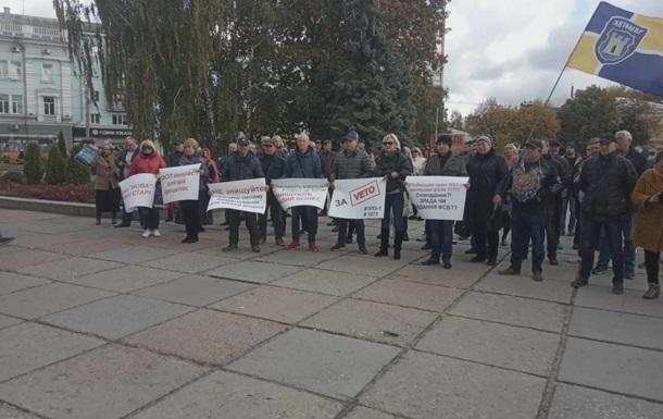 У Житомирі підприємці вийшли на мітинг