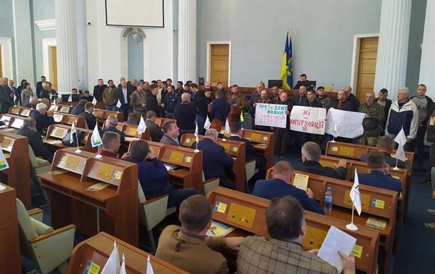 Еще один облсовет протестует против формулы Штайнмайера