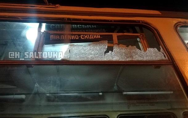 В Харькове обстреляли трамвай