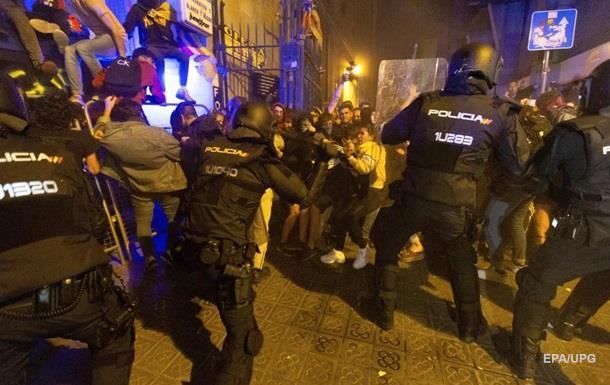 Протесты в Каталонии: пострадали более 70 человек