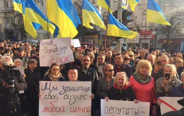 В Харькове предприниматели протестуют против дороги через территорию рынка
