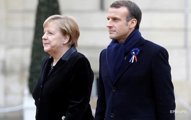 Макрон і Меркель обговорили хід мінських угод
