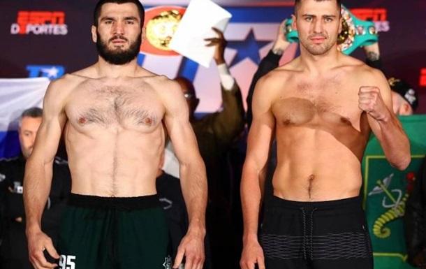 Бетербиев и Гвоздик прошли церемонию взвешивания перед чемпионским боем