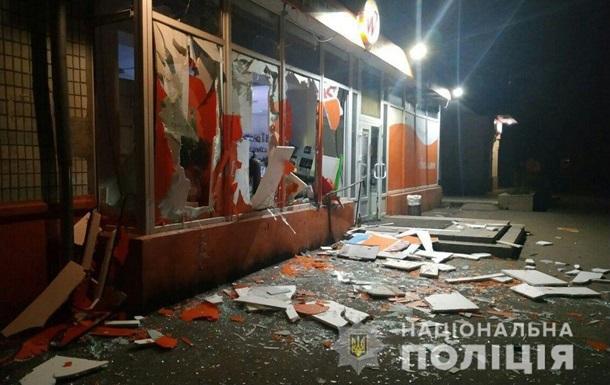 В Запорожье взорвали банкомат вместе с магазином