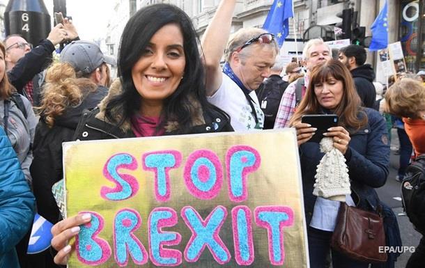 В Лондоне прошла демонстрация противников Brexit