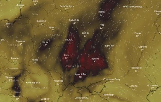 В атмосфері над Україною зафіксовано підвищений рівень чадного газу