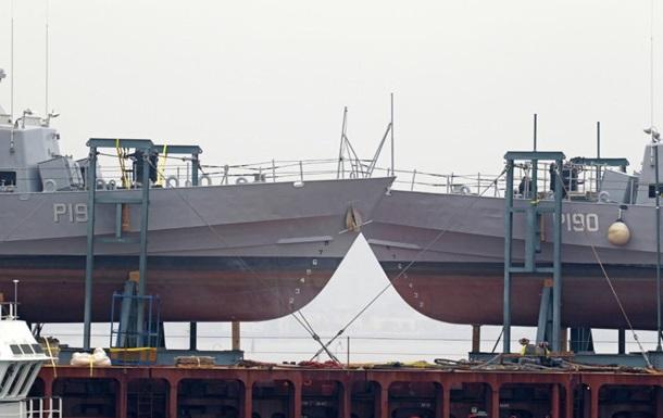 """Украинские ВМС пополнили два катера Island  Славянск  и """"Старобельск"""""""