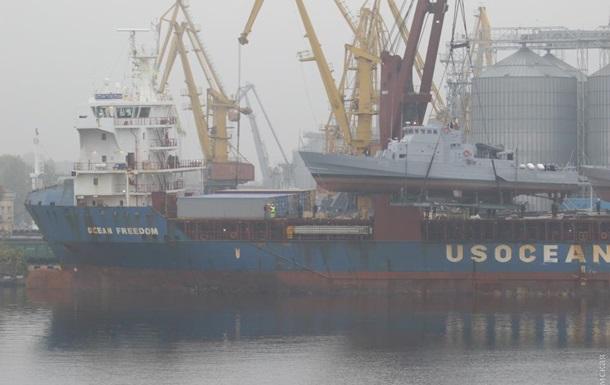 В Одессе спустили на воду прибывшие из США катера