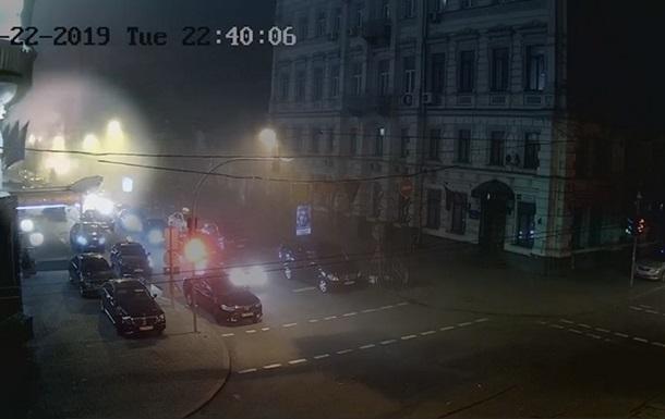 В МВД показали видео взрыва гранаты в центре Киева