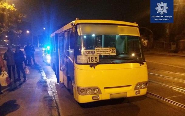 В Одессе пьяный пассажир устроил погром в маршрутке