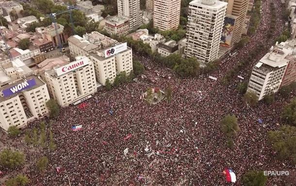 Близько мільйона людей вийшли на мітинг у Сантьяго