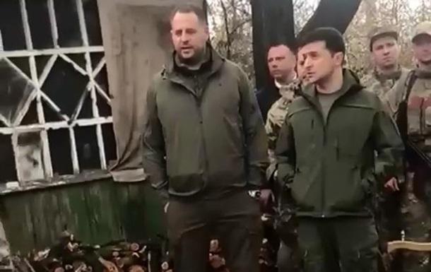 Зеленський поспілкувався з добровольцями на Донбасі