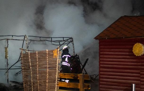 В киевском кафе произошел пожар и взрыв