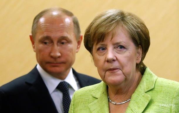Меркель і Путін обговорили транзит газу Україною