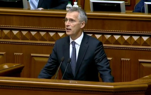 Столтенберг говорил в Раде о членстве в НАТО