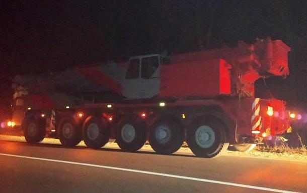 Патрульные оштрафовали водителя автокрана на 170 тысяч гривен