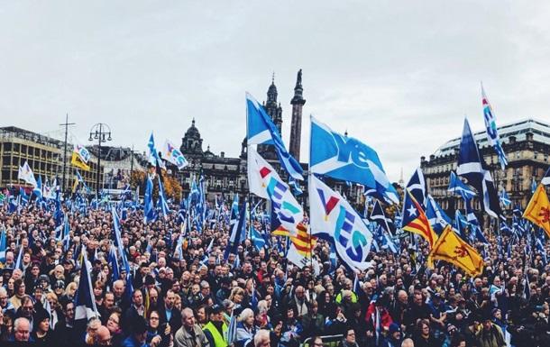 В Шотландии прошел марш за независимость региона