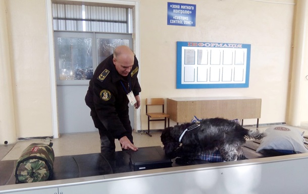 В аеропорту Запоріжжя за допомогою собаки знайшли $13 тисяч у валізі