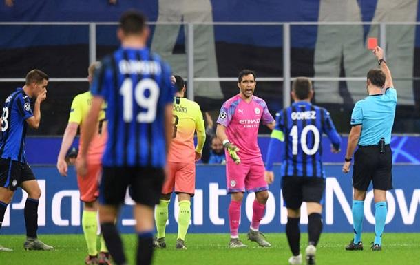 Аталанта и Ман Сити расписали ничью в матче с пенальти и удалением вратаря