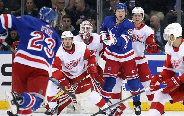 НХЛ: Рейнджерс разгромили Детройт, Эдмонтон уступил Сент-Луису