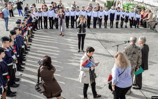 В Крыму на траурном митинге дети падали в обморок