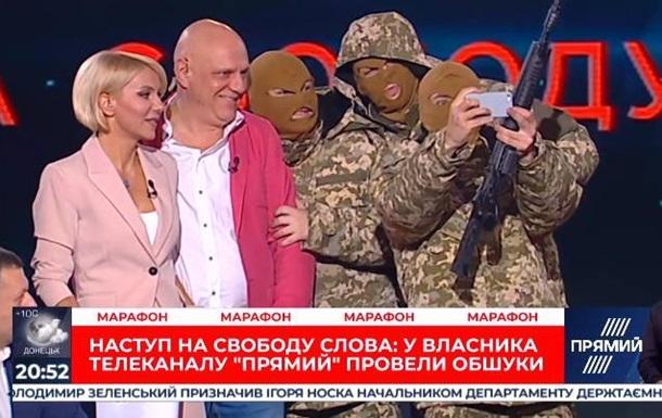 Прямий показав  захоплення  телеканалу в прямому ефірі