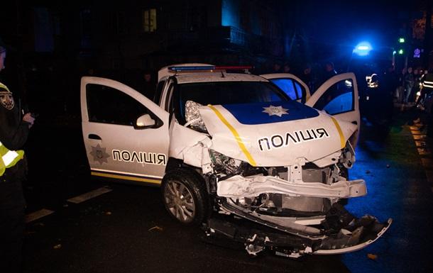 ДТП з поліцією в Києві: постраждало четверо людей