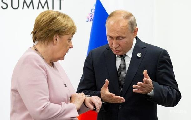 Путин обсудил с Меркель Донбасс и транзит газа
