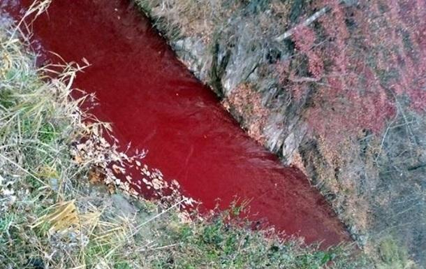 Річка в Південній Кореї забарвилася кров ю хворих свиней