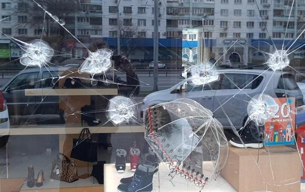 В Киеве расстреляли обувной магазин