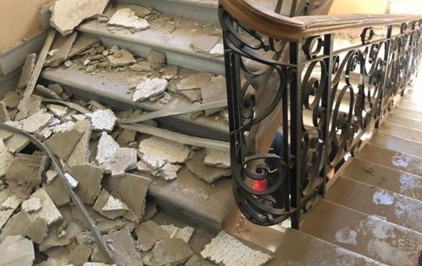 Появилось видео обрушения потолка на полицейских в Одессе