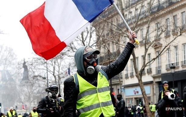 У Франції оцінили збиток від протестів  жовтих жилетів