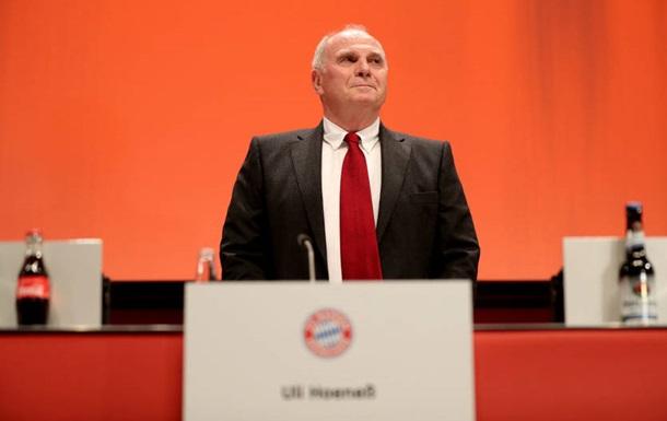 Хенесс покинул пост президента Баварии