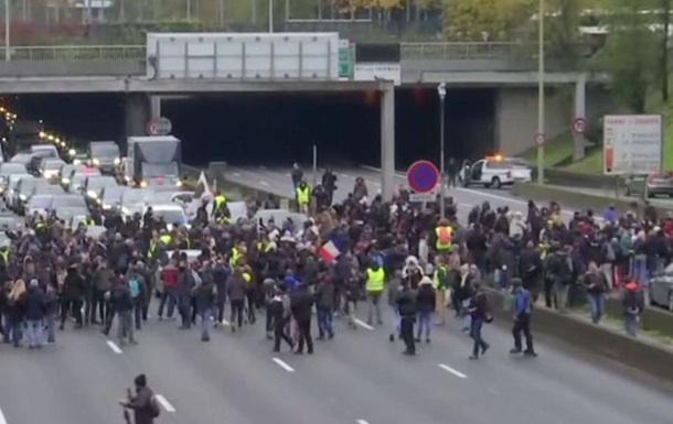 В Париже протестуют в годовщину  желтых жилетов