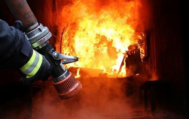 Пожар в воинской части Львов