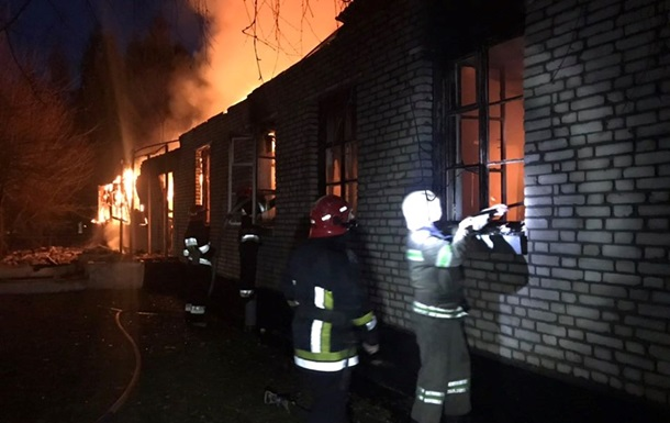 Пожар в воинской части под Львовом