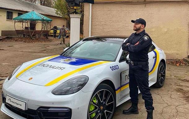 В Одесі помітили поліцейський Porsche Panamera
