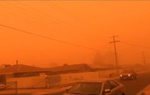 Город в Австралии накрыла пылевая буря
