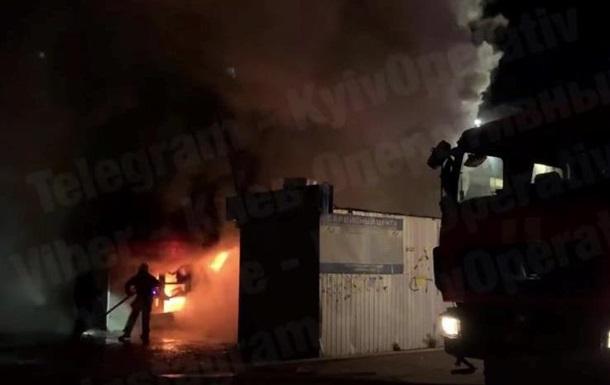 В Киеве ночью горели МАФы