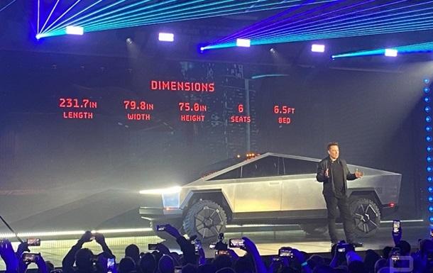Tesla получила тысячи заказов на электропикап Cybertruck