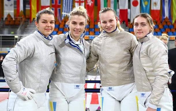 Украинские саблистки завоевали бронзу на этапе Кубка мира в Орлеане