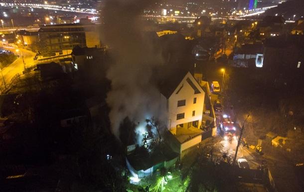 Пожар в доме в Киеве