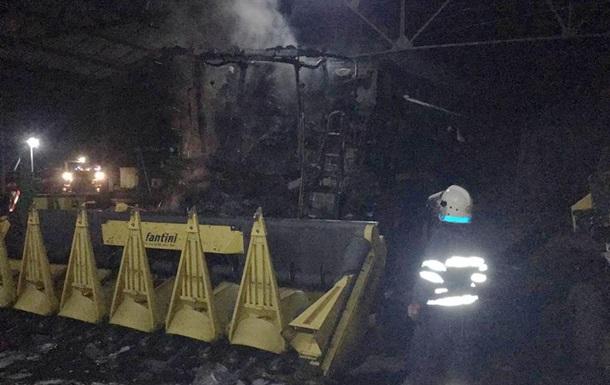 В Днепропетровской области сгорела техника на ферме
