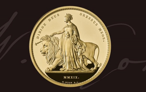 У Британії випустили золоту монету вагою п ять кіло