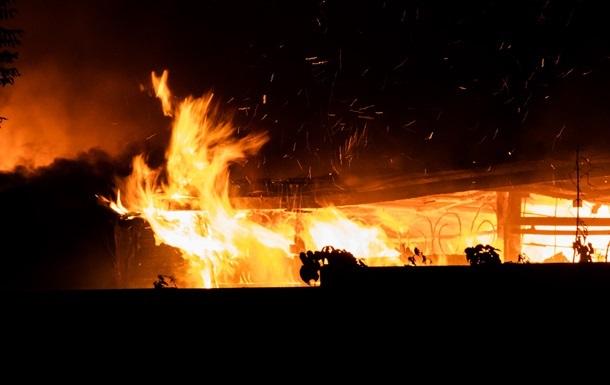 В воинской части во Львове случился пожар
